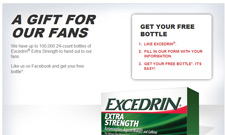 Free Excedrin Sample First 100,000