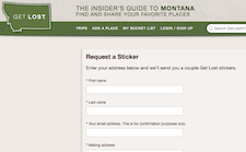 Free Montana Get Lost Sticker