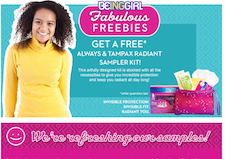 Free Always Tampax Sample