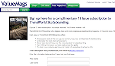 Free Transworld Skate Magazine Subscription
