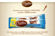 Free Ovaltine Stick Pack Sample
