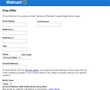 Free Sample of Maxwell House Single Serve Cups