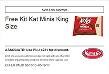 Free Kit Kat Minis King Size - Kum & Go Coupon