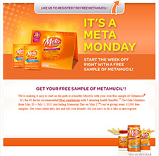 Free Sample of Metamucil
