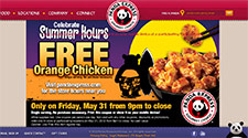 Free Panda Express Orange Chicken Coupon May 31st