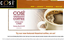 Free Hazelnut Coffee At Cosi