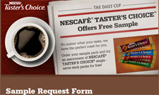 Free Nescafe Taster's Choice Coffee Sample