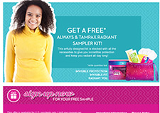 Free Always And Tampax Samples