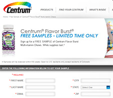 Free Centrum Flavor Burst Sample
