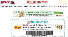 Free Friskies or Fancy Feast Cat Food Coupon At Petco