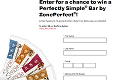 Free Perfectly Simple Bar by ZonePerfect