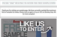 Free NewVo Beauty Sample Today 2 PM EST on Monday July, 8th