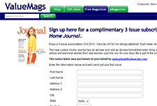 Free 3 Issue Subscription to Ladies' Home Journal
