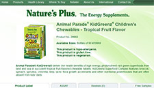 Free Nature's Plus Animal Parade KidGreenz Children's Chewable Sample