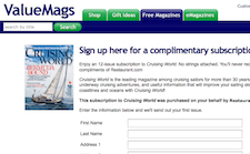 Free Cruising World Magazine Subscription