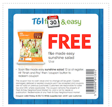 Free Fresh and Easy Made Sale Coupon