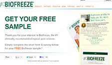 Free Biofreeze Pain Relieving Gel Sample