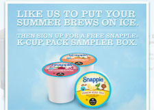Free Brew Over Ice Snapple K-Cup Sampler Pack