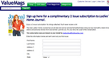 Free 2 Issue Subscription to Ladies' Home Journal