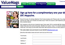Free Complimentary One Year Digital Subscription to OK. Magazine