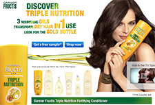 Free Garnier Fructis Triple Nutrition Sample