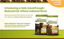 Free Instinct Health Weight Dog Food Sample