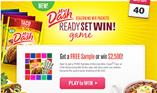 Free Mrs. Dash Sample - Limited Supply