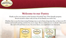 Free Twinings of London Tea Sample