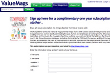 Free Magazine Subscription to Working Mother