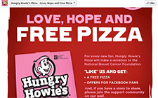Free Hungry Howie's Pizza Sample