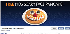 Free Scary Face Pancake At IHOP 10/31