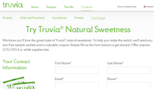 Free Truvia Sweetner Sample