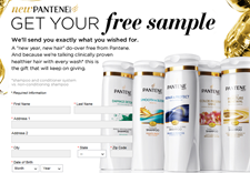 Free Pantene Shampoo & Conditioner Sample