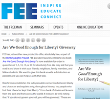 Free Book Are We Good Enough for Liberty