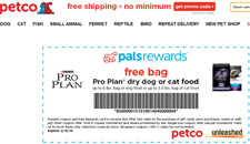 Free Petco Proplan Dry Dog or Cat Food