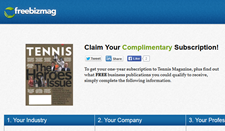 Free Tennis Magazine Subscription