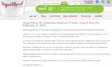 Free Frozen Yogurt and Toppings At Yogurtland February 3rd