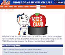 Free Met's Kids Club. The 2014 Kids Club Membership