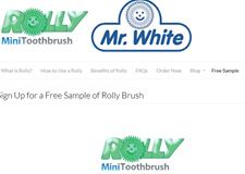 Free Rolly Brush Teech Cleaner