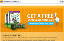 Free Vet IQ Minties Dental Treats For Dogs Sample